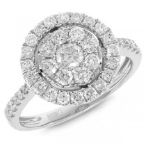 0.97ct 14k White Gold Diamond Lady's Ring