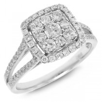 0.73ct 14k White Gold Diamond Lady's Ring