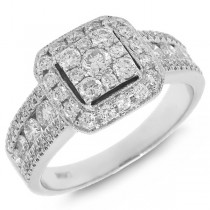 0.94ct 14k White Gold Diamond Lady's Ring