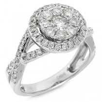 1.06ct 14k White Gold Diamond Lady's Ring