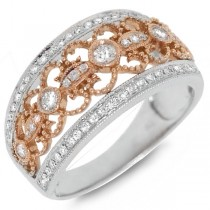0.50ct 18k Two-tone Rose Gold Diamond Lady's Ring
