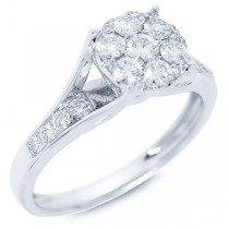 0.64ct 14k White Gold Diamond Lady's Ring