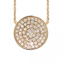 0.17ct 14k Yellow Gold Diamond Pave Necklace