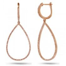 0.52ct 14k Rose Gold Diamond Earrings