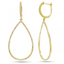 0.52ct 14k Yellow Gold Diamond Earrings