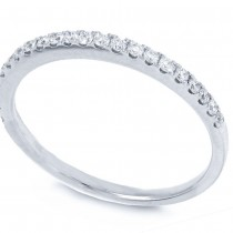 0.22ct 14k White Gold Diamond Lady's Band