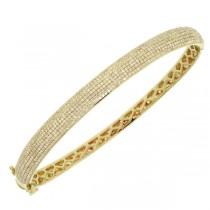 1.54ct 14k Yellow Gold Diamond Pave Bangle