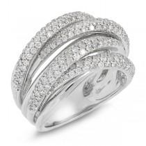 1.60ct 14k White Gold Rose Gold Diamond Bridge Ring