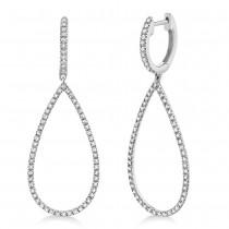 0.40ct 14k White Gold Diamond Earrings