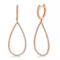 0.40ct 14k Rose Gold Diamond Earrings