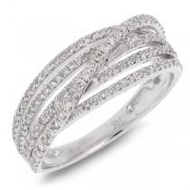 0.49ct 14k White Gold Diamond Bridge Ring