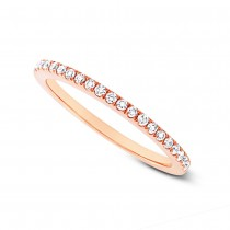 0.20ct 14k Rose Gold Diamond Lady's Band