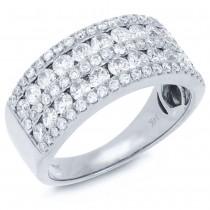 1.64ct 14k White Gold Diamond Lady's Ring Size 6.5