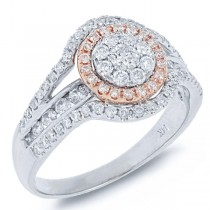 0.80ct 14k Two-tone Rose Gold Diamond Lady's Ring