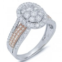 1.23ct 14k Two-tone Rose Gold Diamond Lady's Ring