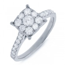 0.87ct 14k White Gold Round Brilliant Diamond Lady's Ring