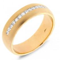 0.58ct 14k Yellow Gold Diamond Princess Cut Men's Band