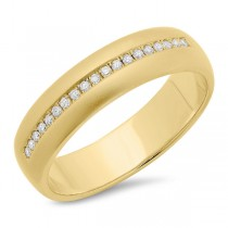 0.17ct 14k Yellow Gold Diamond Men's Band