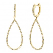 0.40ct 14k Yellow Gold Diamond Earrings