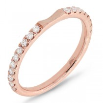 0.31ct 14k Rose Gold Diamond Lady's Band