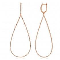 0.75ct 14k Rose Gold Diamond Earrings