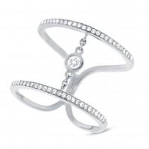 0.24ct 14k White Gold Diamond Lady's Ring Size 10