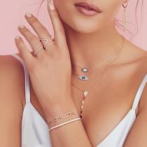 0.18ct 14k Yellow Gold Diamond Lady's ''X'' Ring