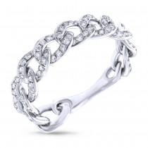0.62ct 14k White Gold Diamond Chain Ring
