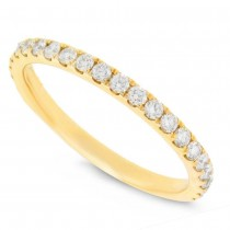 0.43ct 14k Yellow Gold Diamond Lady's Band Size 8