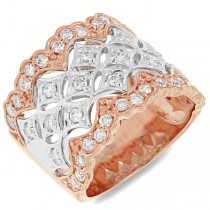 0.83ct 18k Two-tone Rose Gold Diamond Lady's Ring
