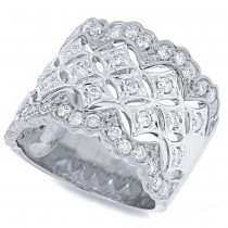 0.83ct 18k White Gold Diamond Lady's Ring