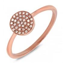 0.11ct 14k Rose Gold Diamond Pave Lady's Ring