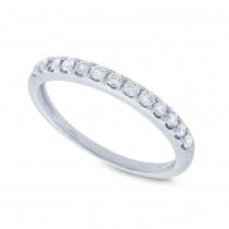 0.28ct 14k White Gold Diamond Lady's Band