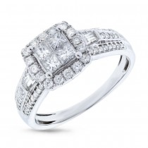 0.84ct 14k White Gold Diamond Invisible Lady's Ring