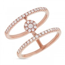 0.43ct 14k Rose Gold Diamond Lady's Ring