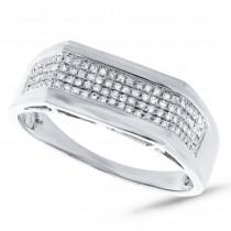 0.24ct 14k White Gold Diamond Men's Ring