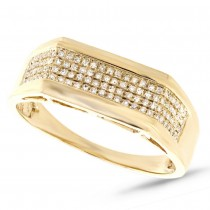 0.24ct 14k Yellow Gold Diamond Men's Ring