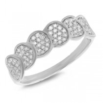 0.28ct 14k White Gold Diamond Pave Lady's Ring