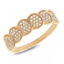 0.28ct 14k Yellow Gold Diamond Pave Lady's Ring