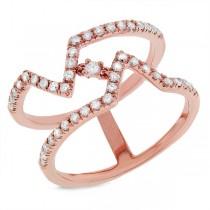 0.43ct 14k Rose Gold Diamond Lady's Ring