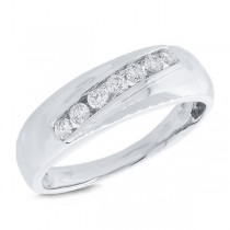 0.37ct 14k White Gold Diamond Men's Band