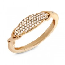 0.15ct 14k Yellow Gold Diamond Pave Lady's Ring
