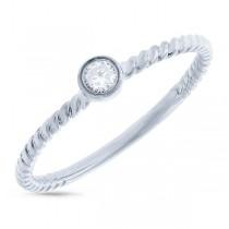 0.09ct 14k White Gold Diamond Lady's Ring