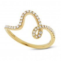 0.25ct 14k Yellow Gold Diamond Lady's Ring