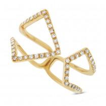 0.24ct 14k Yellow Gold Diamond Lady's Ring Size 9