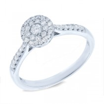 0.37ct 14k White Gold Diamond Cluster Lady's Ring