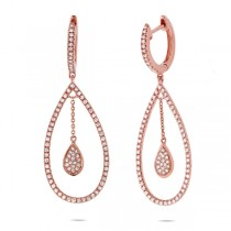 0.53ct 14k Rose Gold Diamond Earrings