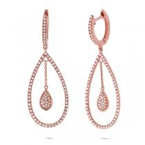 0.53ct 14k Rose Gold Diamond Earrings