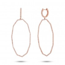 0.62ct 14k Rose Gold Diamond Earrings