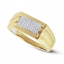 0.14ct 14k Yellow Gold Diamond Men's Ring